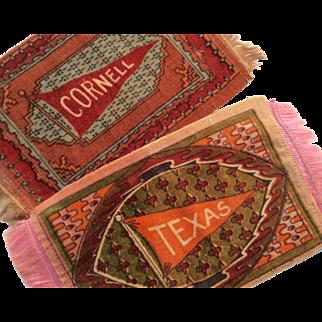 Vintage Cornell Texas University College Dollhouse Doll Miniature Carpet Rug Set