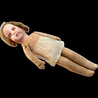 German Papier Mache Doll Head on Cloth body