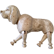 Vintage Schoenhut All Wood Jointed Poodle Dog Doll Size