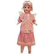 Pretty in Pink Factory Original German Bisque Antique Doll Great Dress