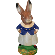 German Papier Mache Bunny Rabbit Vintage Candy Container