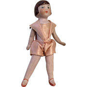 German All Bisque Flapper Doll Miniature Dollhouse Doll