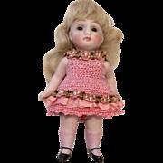 Gorgeous German All Bisque Antique Doll Crochet Dress
