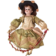 Original Clothes Antique German Bisque Head Doll from Automaton