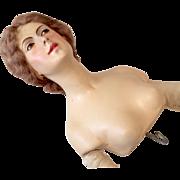 Exquisite Large Lilli Baitz German Antique Half Doll Signed Betty