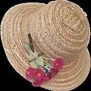 Vintage 1950s Vogue Ginny Doll Hat Bonnet or Muffie Alexanderkin