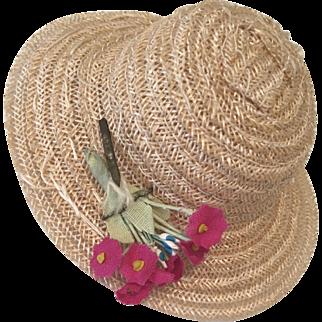 Vintage 1950s Vogue Ginny Doll Hat Bonnet or Muffie Allexanderkin