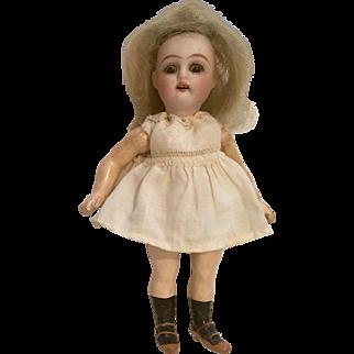 "Tiny 4.5"" Kammer Reinhardt 192 German Bisque Head Doll Great Little Body Miniature Antique Dollhouse Size"