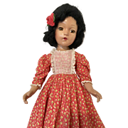 Composition Madame Alexander Doll Original Tagged Gown