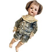 "11"" Toddler Body German Bisque Head Doll Bruno Schmidt"
