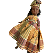 French SFBJ All Original Black Doll