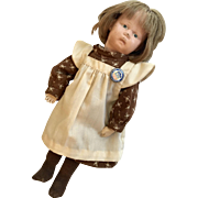 "Petite 11"" Wood Spring Jointed Schoenhut Doll with Labels"