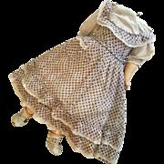 Parts Clothes Antique Doll Body with Print Jumper Dress Pantaloons Slip Socks Shoes no Head