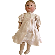 "Darling 13"" Antique Martha Chase Cloth Doll with Original Paper Label Tag"