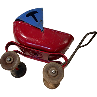 Vintage Metal Doll or Dollhouse Carriage