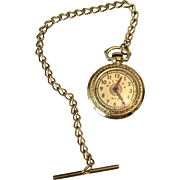 Antique German Doll Pocket Watch with Chain for Fashion Doll Accessory