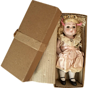 Large All Bisque German Doll in Original Antique Box