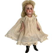 "7"" French All Bisque Doll Verlingue Dollhouse Size"