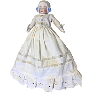 German Molded Bonnet Head Character Antique Doll