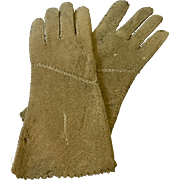 2 Tone  Antique Leather Doll Gloves FF