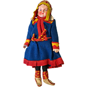Colorful Outfit Vintage German Doll