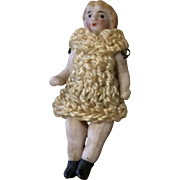 All Bisque Tiny Carl Horn German Antique Crochet Outfit Miniature