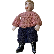 Boy All Bisque Carl Horn Antique German Doll Crochet Clothes