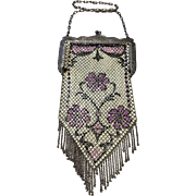 Mandalian Antique Enamel Mesh Purse