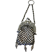 Metal Mesh Doll Chatelaine Purse for Antique French Fashion or German