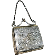 Sterling Silver Miniature Doll Purse for Small FF