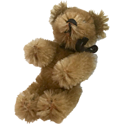 Miniature German Schuco Teddy Bear Fully Jointed for Vintage Doll or Dollhouse