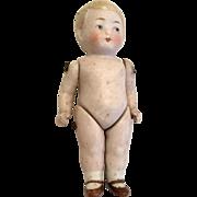 All Bisque Boy Doll German Antique Dollhouse Size Miniature