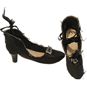 Boudoir Doll High Heel Shoes for Antique Bed Doll