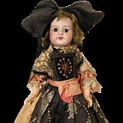 """18"""" French Bisque 232 Paris All Original Clothes Costume SFBJ Doll"""