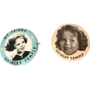 Shirley Temple Button 1935 Mirror for Vintage Doll