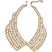 Doll Size Vintage Faux Pearl Bead Collar Necklace for Doll Clothes Costume