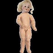 """8.5"""" German Bisque Globe Baby Hartmann Antique Doll"""