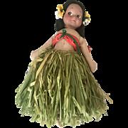 Super Cute Vintage Hawaiian Cloth Doll All Original