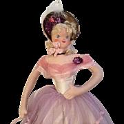 Lovely Vintage German Casa Carioca Cloth Artist Souvenir Doll from Resort Club