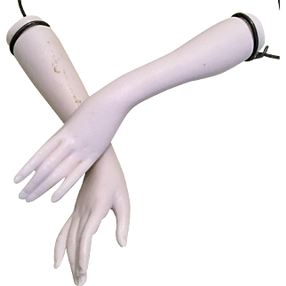 Replacement Arms for Bisque Porcelain Half Doll Lady
