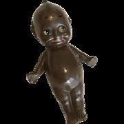 German Black Kewpie Rose O'Neill Label 1913 Antique Miniature Doll