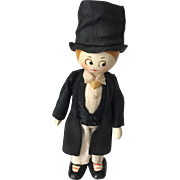 """4"""" All Wood Dollhouse Gentleman Doll"""