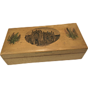 Antique Wood Box for Doll Accessories