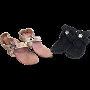 2 Pair 1950s Vintage Fashion Doll High Heel Shoes Cassette Jill Toni Little Miss Revlon