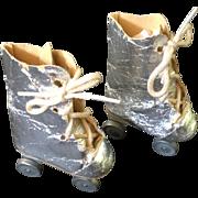 1940/1950 'Silver' Roller Skates