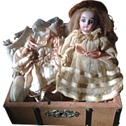 """Sweet 5"""" Doll with Her Trunk and Wardrobe"""