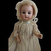 "Cute 9"" Antique Bisque Head Little Girl"