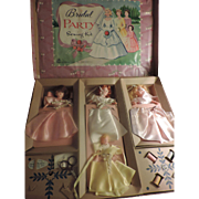 Bridal Party Dolls Sewing Kit, Hasbro, 1930/40's ~ Sale