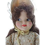 "Sweet 20"" Mask Face Cloth Doll, 1940/50's"