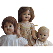 Grou of 3 American Composition Dolls; 2 American Character